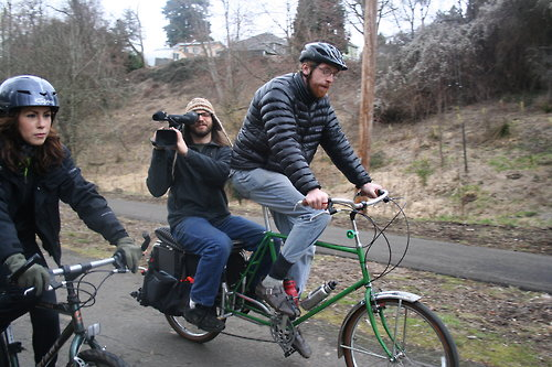 Filming By Bike