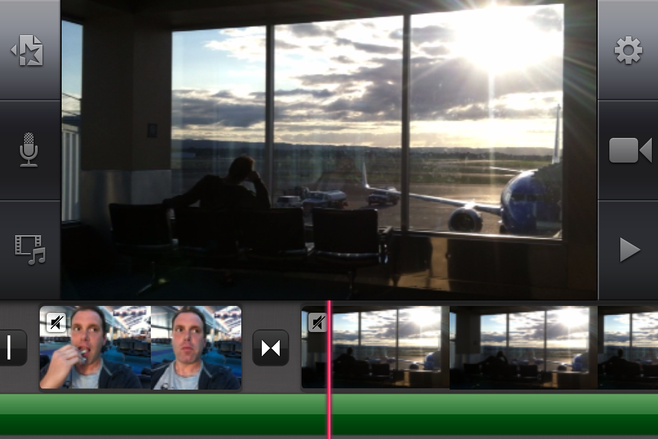 editing in iMovie on iPhone